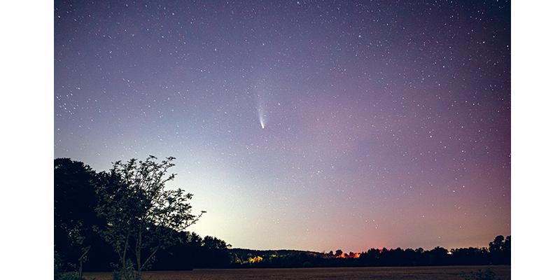 COMET NEOWISE, Ball Rd., Comet over Ball Rd., Uxbridge