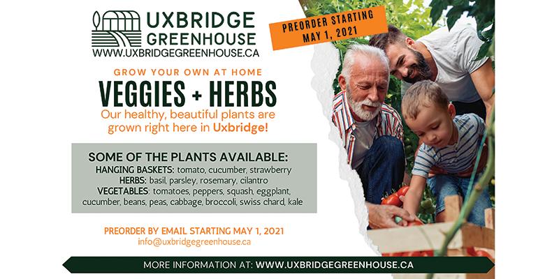 Uxbridge Greenhouse, plant your own vegetables, Uxbridge