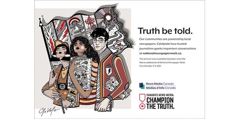 National Newspaper Week, champion the truth, news media canada